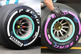 Comparazione tra nuovo e vecchio cerchio Mercedes