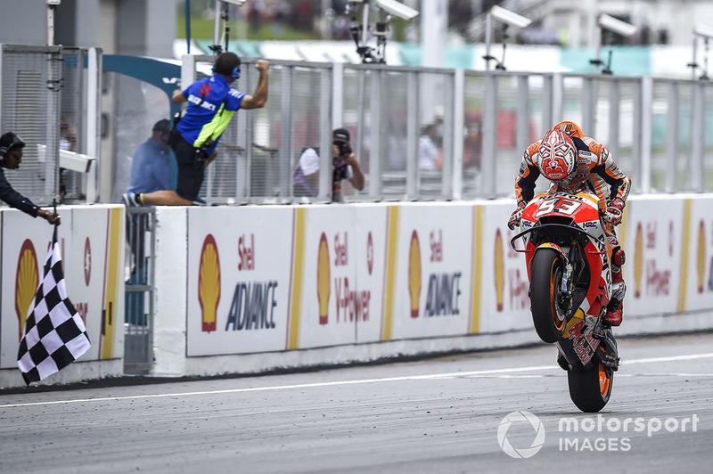 Marc Marquez, Repsol Honda Team, finis pertama