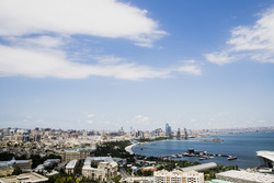 Blick auf Baku