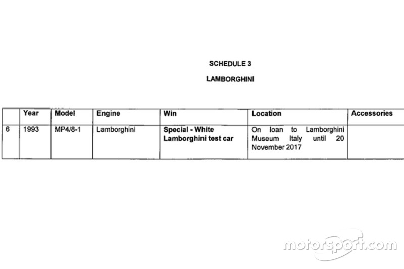 Dennis McLaren Lamborghini acuerdo de auto de prueba