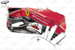 Ferrari SF70H barge board, Spanish GP