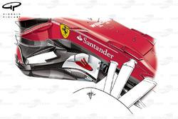 Ferrari SF70H bargeboard, Spanyol GP