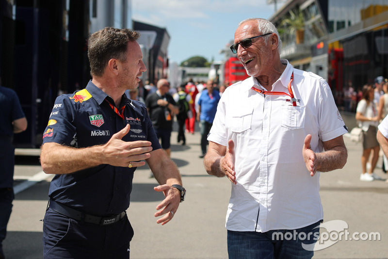 Christian Horner, Red Bull Racing Team Principal and Dietrich Mateschitz, CEO and Founder of Red ...