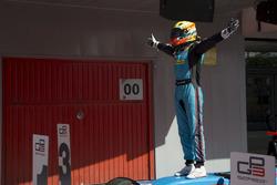 Arjun Maini, Jenzer Motorsport celebrates his victory in Race Two