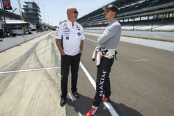 Graham Rahal, Rahal Letterman Lanigan Racing Honda with father and team owner Bobby Rahal