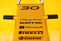 Хэштег #BillyWhizz на автомобиле Renault Sport F1 RS17