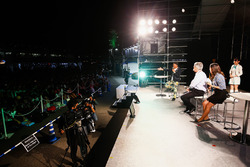 Chase Carey, Chairman, Formula One. on stage in the F1 Fanzone