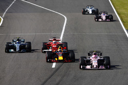 Естебан Окон, Sahara Force India F1 VJM10, Даніель РІккардо Red Bull Racing RB13,  Себастьян Феттель, Ferrari SF70H, Валттері Ботттас, Mercedes AMG F1 W08