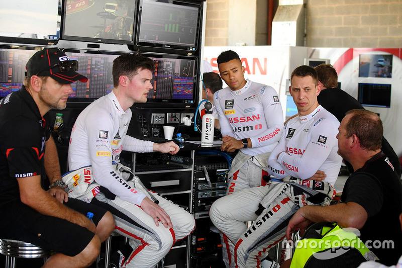 Alex Buncombe, Florian Strauss, Jann Mardenborough, Nissan Motorsport