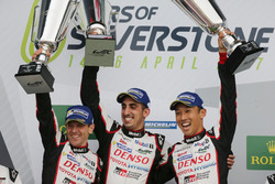 Podium: #8 Toyota Gazoo Racing Toyota TS050 Hybrid: Anthony Davidson, Sébastien Buemi, Kazuki Nakajima