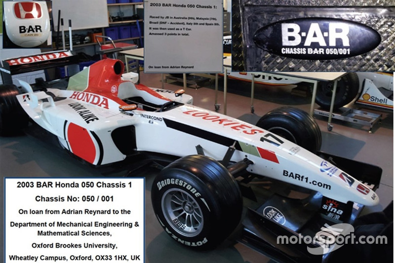 Já esta, foi pilotada por Jenson Button na temporada de 2003
