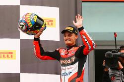 Le vainqueur, Chaz Davies, Ducati Team