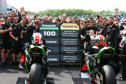 Jonathan Rea, Kawasaki Racing, Tom Sykes, Kawasaki Racing celebrate 100 Kawasaki Racing wins in WSBK