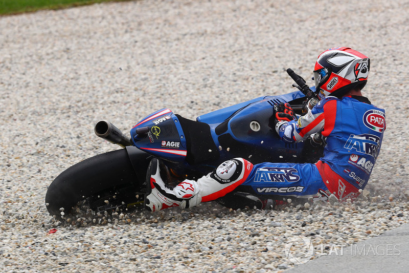 Mattia Pasini, Italtrans Racing Team crash