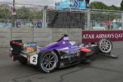 Sam Bird, DS Virgin Racing with damage