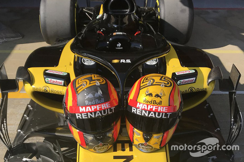 Casques de Carlos Sainz Jr., Renault Sport F1 Team