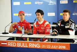 Le poleman LMP2, Paul-Loup Chatin, IDEC Sport Racing, le poleman LMP3 Mikkel Jensen, AT Racing, le poleman GTE Miguel Molina, JMW Motorsport