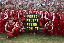 A message to Felipe Massa from the Ferrari team