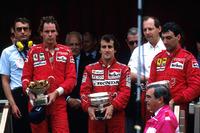 Подиум: победитель Ален Прост, McLaren, второе место – Герхард Бергер, третье место – Микеле Альборето, Ferrari