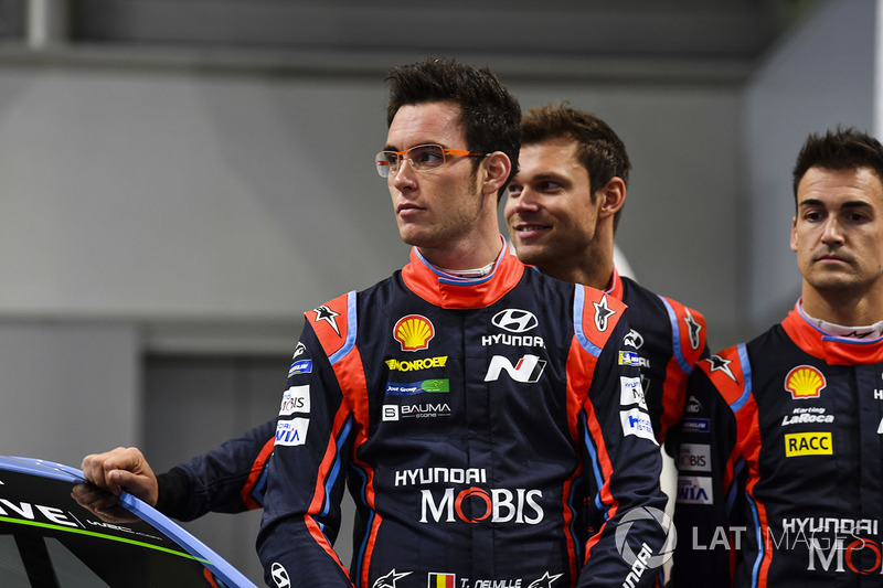 Thierry Neuville, Andreas Mikkelsen and Dani Sordo, Hyundai Motorsport