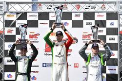 #3 K-PAX Racing Bentley Continental GT3: Rodrigo Baptista, #07 Squadra Corse Garage Italia Americas Ferrari 488 GT3: Martin Fuentes, #19 TruSpeed AutoSport Audi R8 LMS GT3: Parker Chase