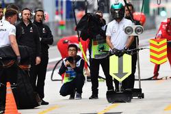 Zone d'arrêt de la Mercedes-AMG F1 W09 EQ Power+