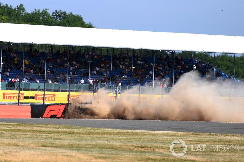 Авария: Брендон Хартли, Scuderia Toro Rosso STR13