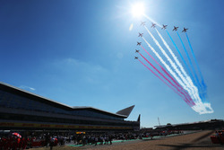 The Red Arrows at Silverstone