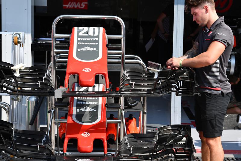 Alerones y morros del Haas F1 Team VF-18