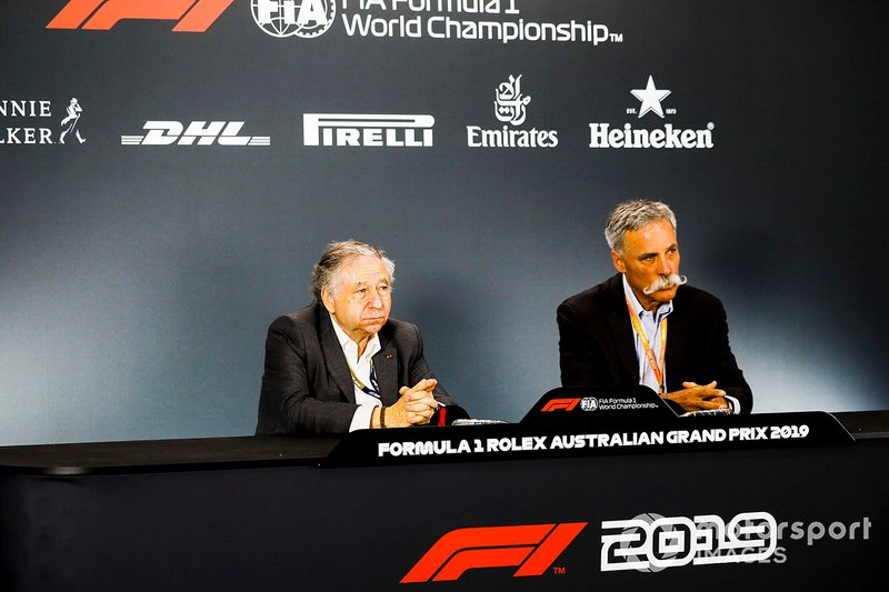 Jean Todt, President, FIA and Chase Carey, Chairman, Formula 1 in Press Conference