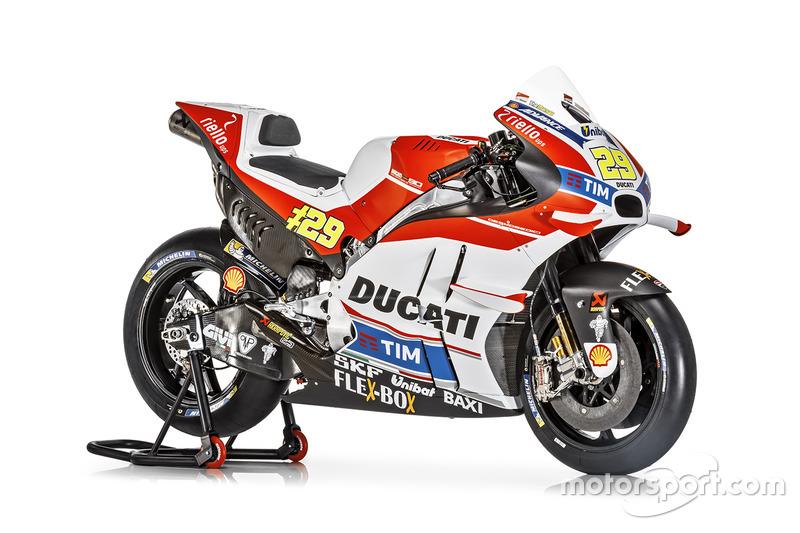 La moto de Andrea Iannone, Ducati Team