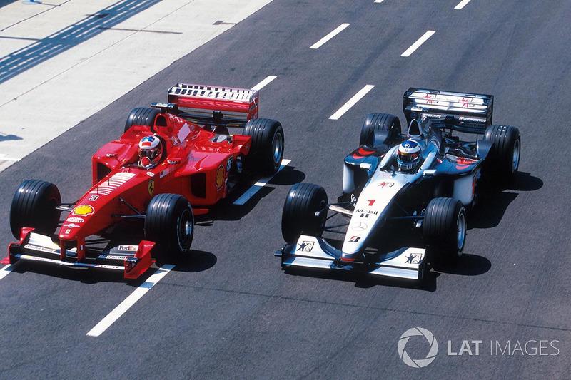 Michael Schumacher, Ferrari, Mika Hakkinen, McLaren