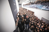 Lewis Hamilton, Niki Lauda, Toto Wolff, Teammitglieder