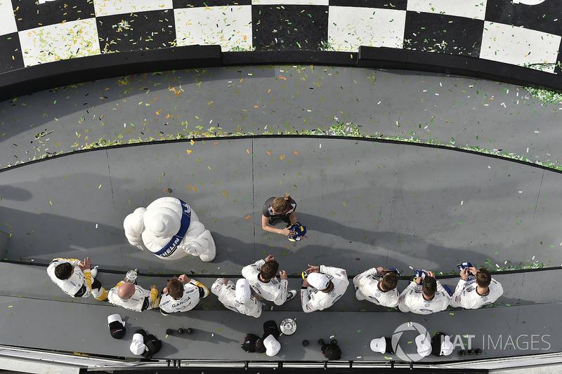 #67 Chip Ganassi Racing Ford GT, GTLM: Ryan Briscoe, Richard Westbrook, Scott Dixon, #66 Chip Ganassi Racing Ford GT, GTLM: Dirk Müller, Joey Hand, Sébastien Bourdais, #3 Corvette Racing Chevrolet Corvette C7.R, GTLM: Antonio Garcia, Jan Magnussen, Mike Ro