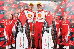 Podium: race winner Alexandre Prémat, Scott McLaughlin, DJR Team Penske