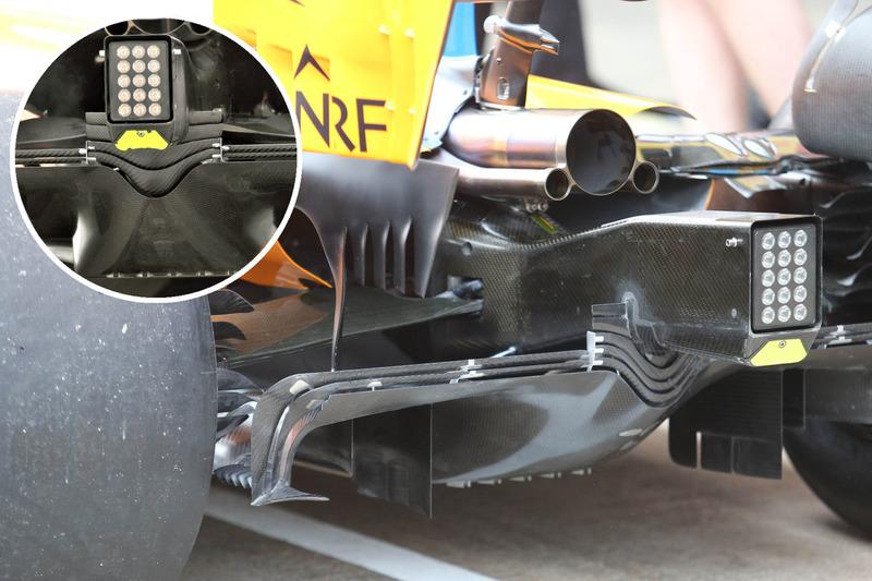 Comparación del difuros del McLaren MCL33