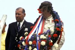 Podium: race winner Jochen Rindt, Lotus