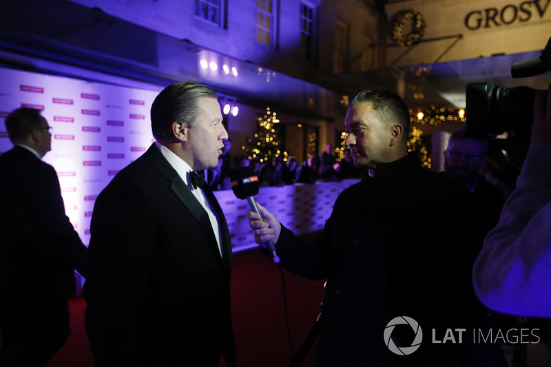 Zak Brown, Executive Director, McLaren Technology Group, talks to Sky