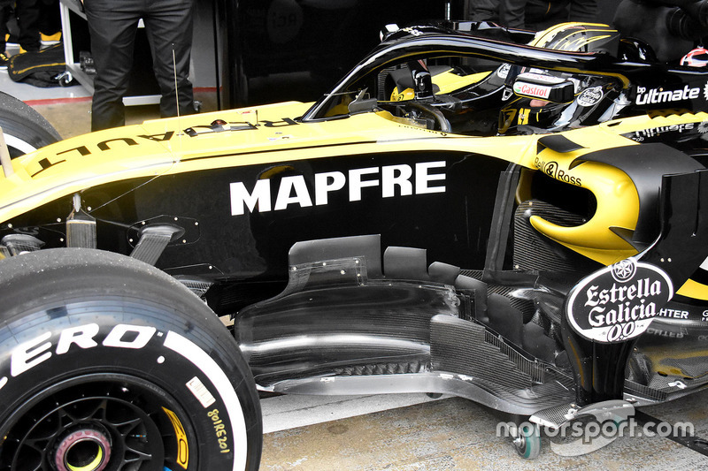 Renault Sport F1 Team RS18 side detail