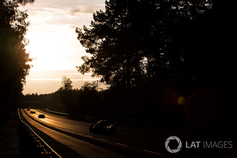 The sun sets on race action at sunset