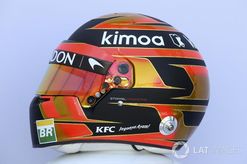 Stoffel Vandoorne, McLaren helmet