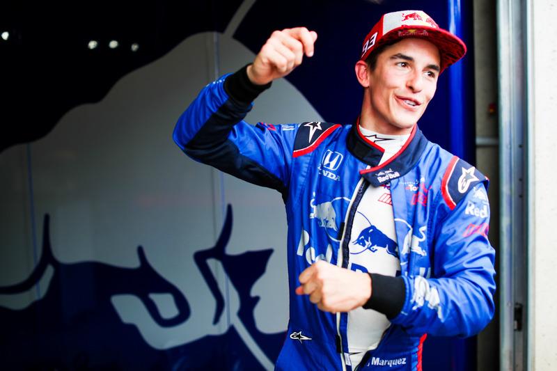 Marc Márquez, prueba el auto F1 de Toro Rosso
