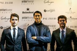 Charles Leclerc, Sauber, Sean Gelael, Scuderia Toro Rosso and Norman Nato, at Amber Lounge Fasion Show