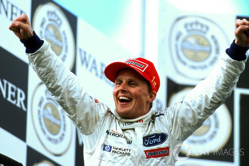 En 1999, Herbert ganó el GP de Europa, prueba marcada por la lluvia, accidentes y abandonos