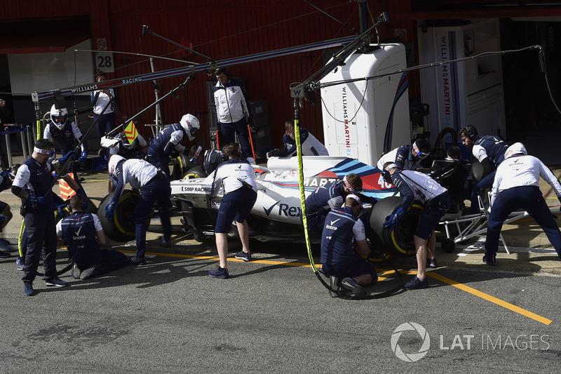 Robert Kubica, Williams FW41 pit stop