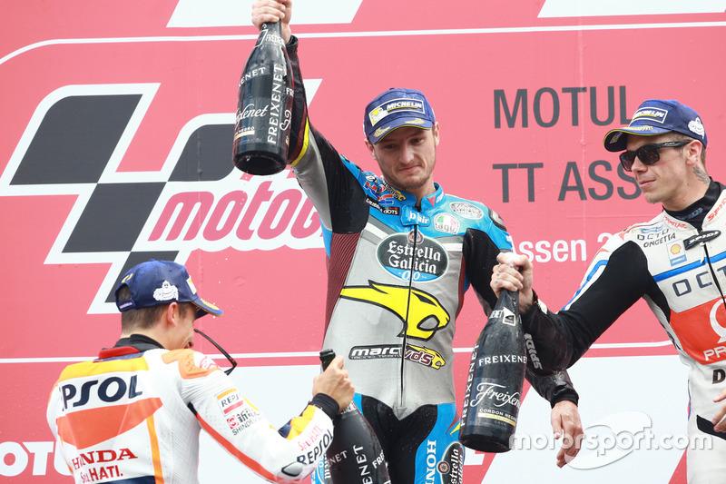 Podyum: 1.  Jack Miller, Marc VDS Racing Honda ve 2. Marc Marquez, Repsol Honda Team