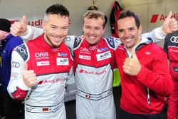 Polesitter LMP1 Marcel Fässler, Andre Lotterer, Benoit Tréluyer, Audi Sport Team Joest