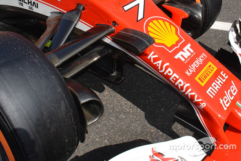 Ferrari SF16-H: Luftleitelemente am Chassis