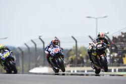 Johann Zarco, Monster Yamaha Tech 3; Maverick Vinales, Yamaha Factory Racing; Valentino Rossi, Yamaha Factory Racing