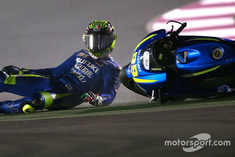 Andrea Iannone, 14 kali kecelakaan